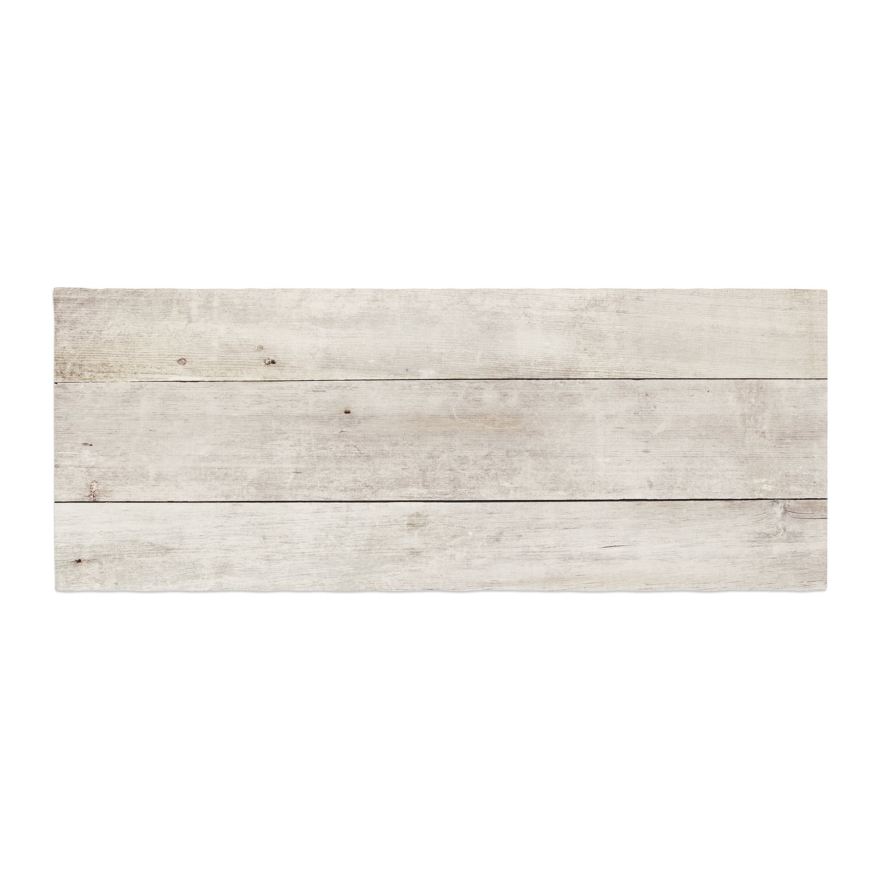 Kess InHouse Susan Sanders White Wash Wood Beige White Bed Runner, 34'' x 86''