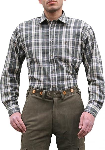 German Wear Caza Camisa para Cazador Caza Camisa Verde Oliva/Cuadrícula Oliv/Kariert 48: Amazon.es: Ropa y accesorios
