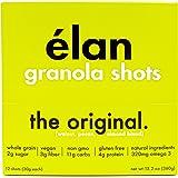 ELAN Low Sugar Original Granola - Almond, Pecan, Walnut, Oat Blend; Gluten Free, Vegan, Healthy Cereal & Breakfast Snacks To Go, 12 Pack (1.1 Ounce Bars)