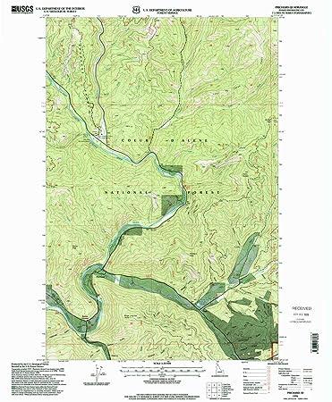 Amazon.com : YellowMaps Prichard ID topo map, 1:24000 Scale, 7.5 X ...