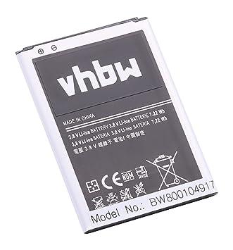 vhbw batería 1900mAh para Smartphone, teléfono móvil Samsung ...