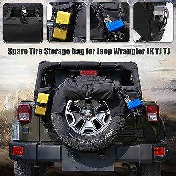 BOXATDOOR Para Wrangler JK YJ TJ, bolsa de almacenamiento organizador plegable para maletero de coche