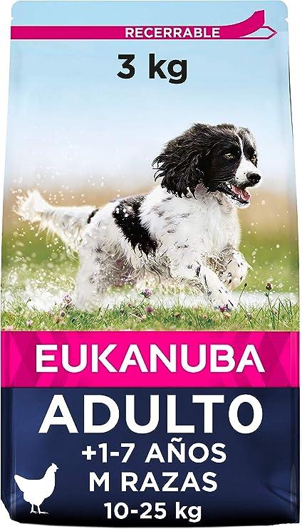Oferta amazon: Eukanuba Alimento seco para perros adultos de razas medianas con pollo 3 kg