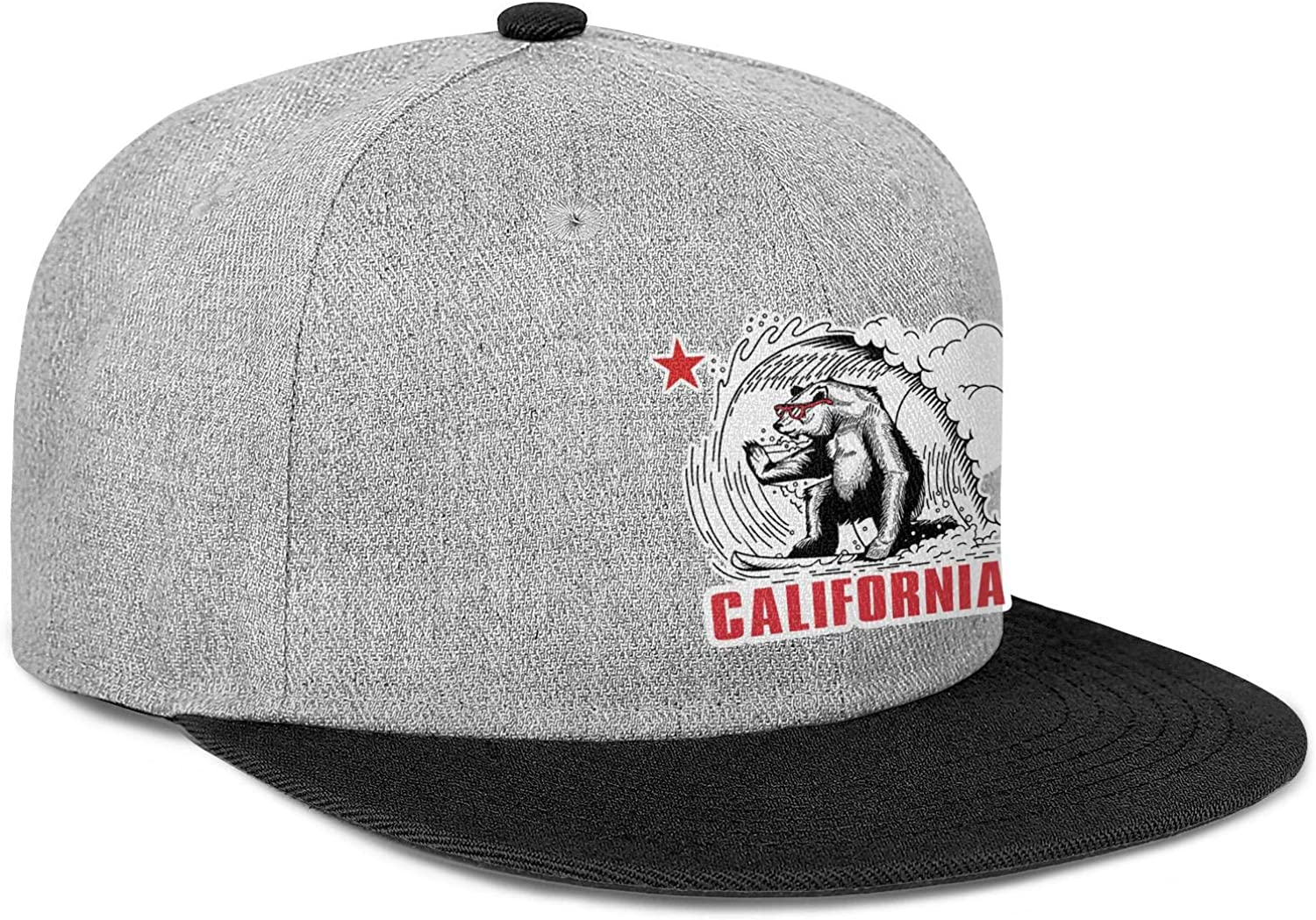 FYFYOK Mens Women Dad Hats California Bear Flag Snapback Adjustable Caps