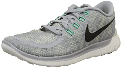NIKE Womens Free 5.0 Print Running Shoes Wolf Grey Black Summit White  749593 002