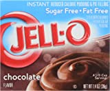JELL-O SUGAR FREE CHOCOLATE INSTANT REDUCED CALORIE PUDDING AND PIE FILLING CHOCOLATE 1 x 39g BOX JELLO