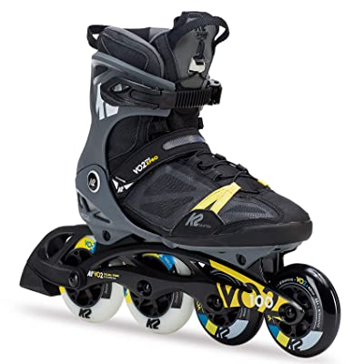 K2 Skate Men's VO2 100 X Pro Inline Skate, Black Gray Yellow : Sports & Outdoors