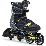 K2 Herren Inline Skates VO2 100 X Pro Schwarz-Grau-Gelb 30C0020.1.1 - Fitness Inline-Skates Inliner Männer