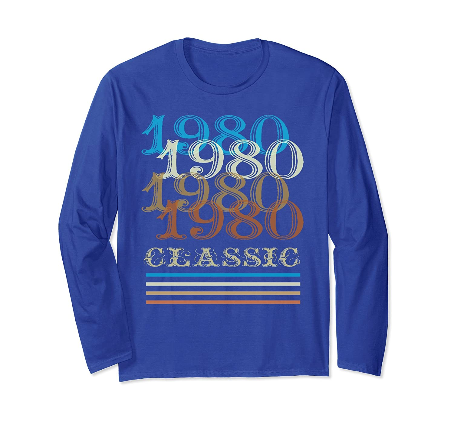 1980 Long Sleeve Classic Vintage Retro 38th Birthday Gifts-anz