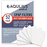 Disposable CPAP Filters (52 Pack - ONE Year Supply) - Fits All ResMed Air 10, Airsense 10, Aircurve 10, S9 Series…