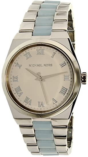 665e068974a8 Michael Kors Women s Channing MK6150 Silver Stainless-Steel Quartz Watch   Michael Kors  Amazon.ca  Watches