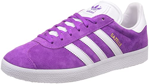 adidas Originals Men s Gazelle Shopur, White and Goldmt Leather Sneakers -  8 UK India 983214e12a