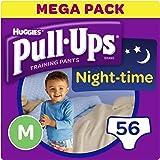 Huggies Pull-Ups Night Time Potty Training Pants for Boys, Medium, Pack of 4 (56 Pants)