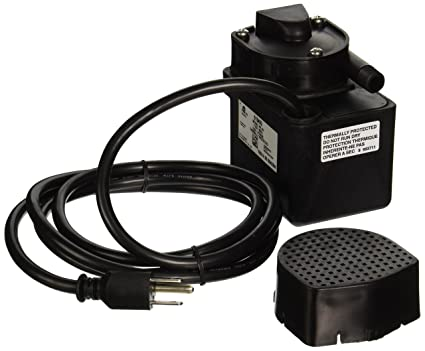 Little Giant 518400 Epoxy Encapsulated Pump, Small Submersible Pump, 1/40  HP 300 GPH 115 V