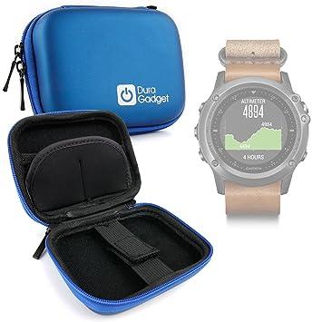 DURAGADGET Estuche Rígido Azul para Smartwatch Garmin Fénix ...