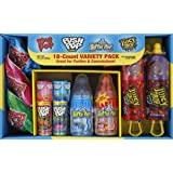 Bazooka Candy Brands, Halloween Lollipop Variety Pack w/ Assorted Flavors of Ring Pop, Push Pop, Baby Bottle Pop, and Juicy D