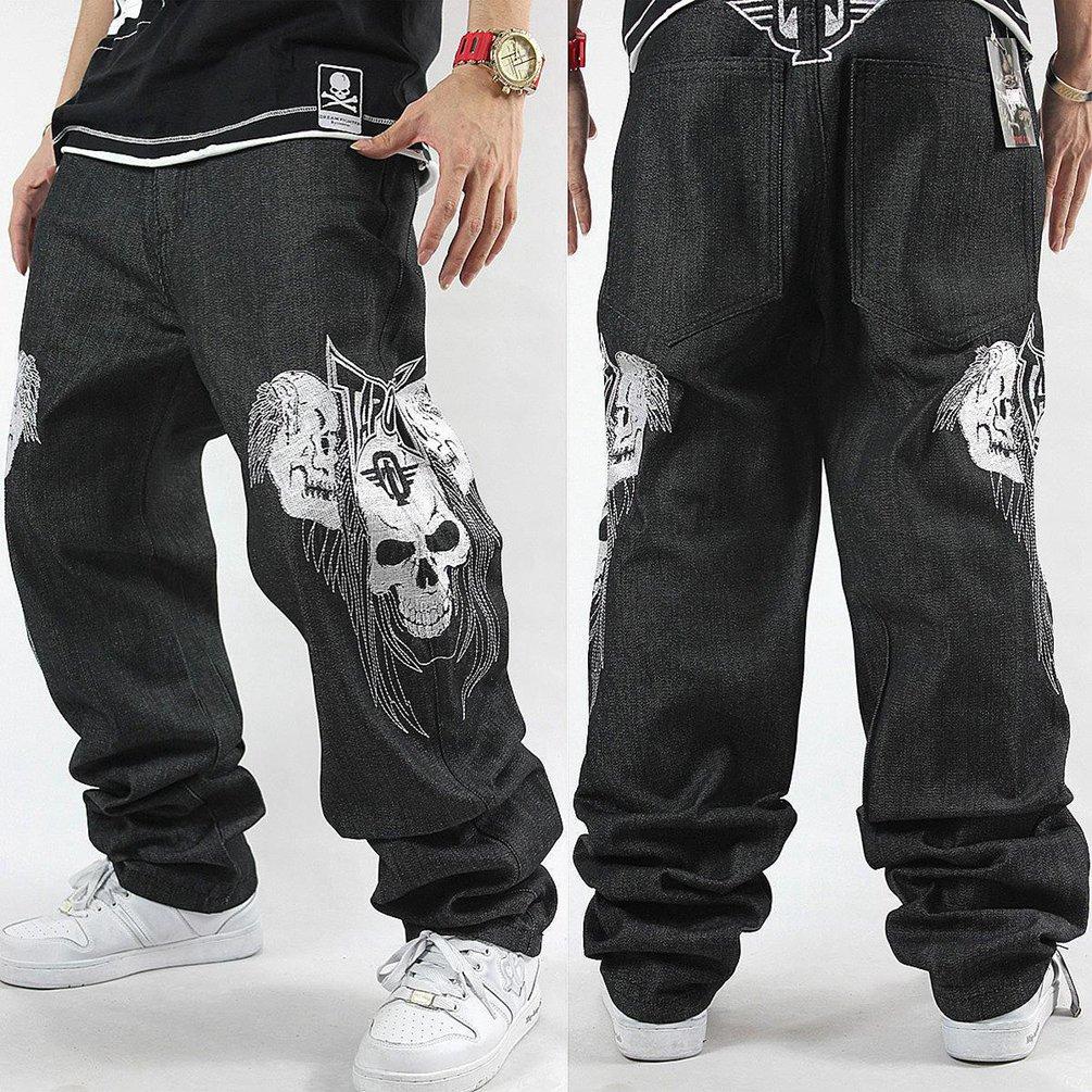 Dexinx Uomo Ragazzi Exquisite Skull Stampa Ballando Jeans Primavera Baggy  Hip Hop Denim Pantaloni  Amazon.it  Abbigliamento 6a298c8df1d3
