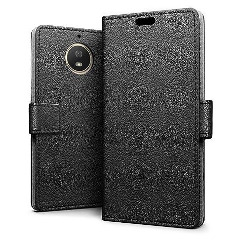 SLEO Coque Motorola Moto G5S Etui Portefeuille Flip PU Cuir Ultra Slim Mince Magnetique A