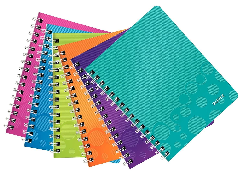 Leitz WOW - Cuaderno, 80 hojas, Colores Surtidos, A5, 6 unidades ...