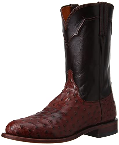 005d07a7528 Amazon.com | Lucchese Men's Handmade Full Quill Ostrich Napoli Roper ...