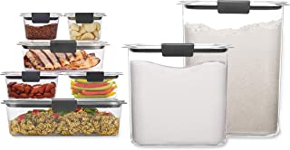 product image for Rubbermaid Brilliance Storage 16-Piece Plastic Lids|BPA Free, Leak Proof Food Container | For Fridge and Pantry, Clear