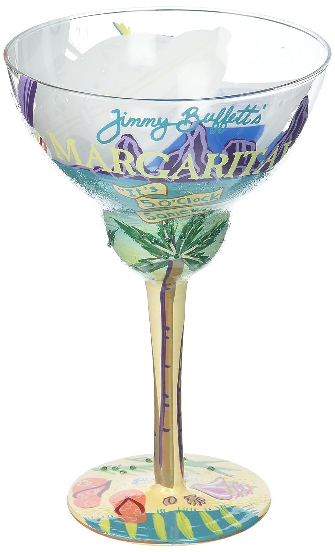 "Designs by Lolita ""Margaritaville"" Hand-painted Artisan Margarita Glass, 12 oz. Enesco 4057326"