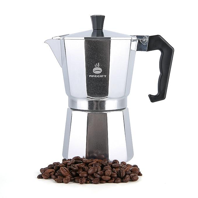 Maggift Coffee Stovetop Espresso Maker, Aluminum Italian Moka Pot (6 Cup)