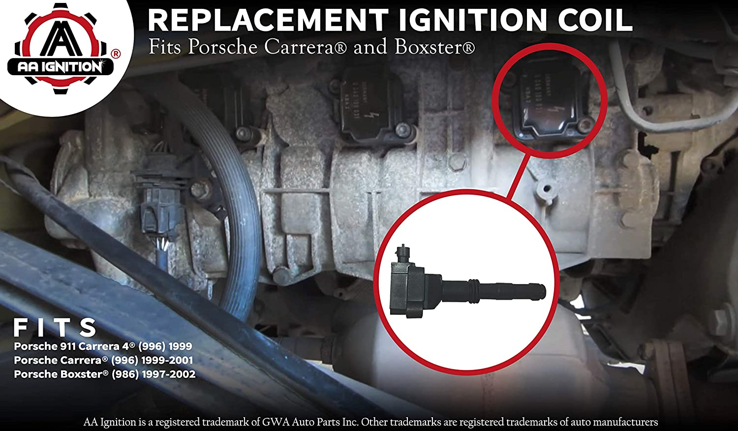 Amazon.com: Ignition Coil Pack- Replaces# 99760210700, 99660210200, 99660210101 - Fits Porsche 911 Carrera and Boxster: Automotive