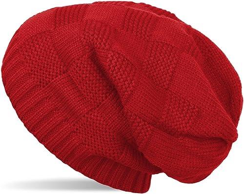 styleBREAKER cuffia beanie in maglia con motivo brevettato, slouch longbeanie, unisex 04024137