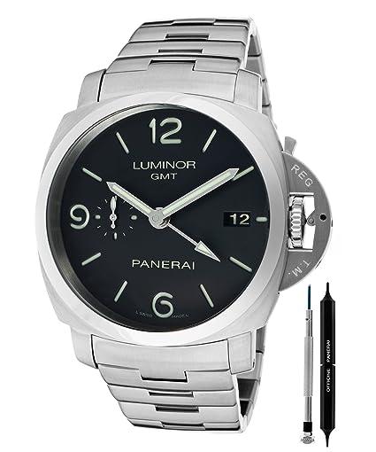 Panerai Luminor 1950 GMT reloj automático para hombres - PAM00329: Panerai: Amazon.es: Relojes