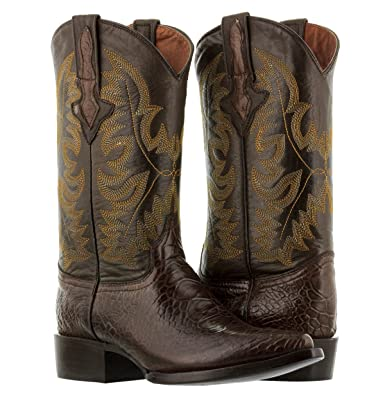 64c0c06f93b Amazon.com | El Presidente - Men's Brown Sea Turtle Print Rodeo ...