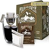 Twin Peaks Premium 100% All Natural Single-Serve Pour Over Honduran Arabica Coffee, Non GMO, 10 Pouches
