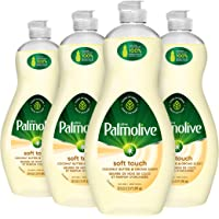 Palmolive Ultra Liquid Dish Soap, Soft Touch Coconut butter and Orchid Scent, 591 ml, Pack Of 4