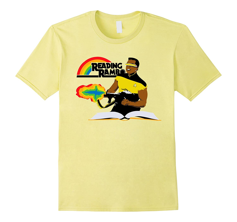 Reading Rambo T-Shirt - Funny Gift Shirt white-BN