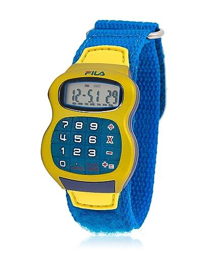 Fila 84802 - Reloj infantil con correa de tela, color azul/gris