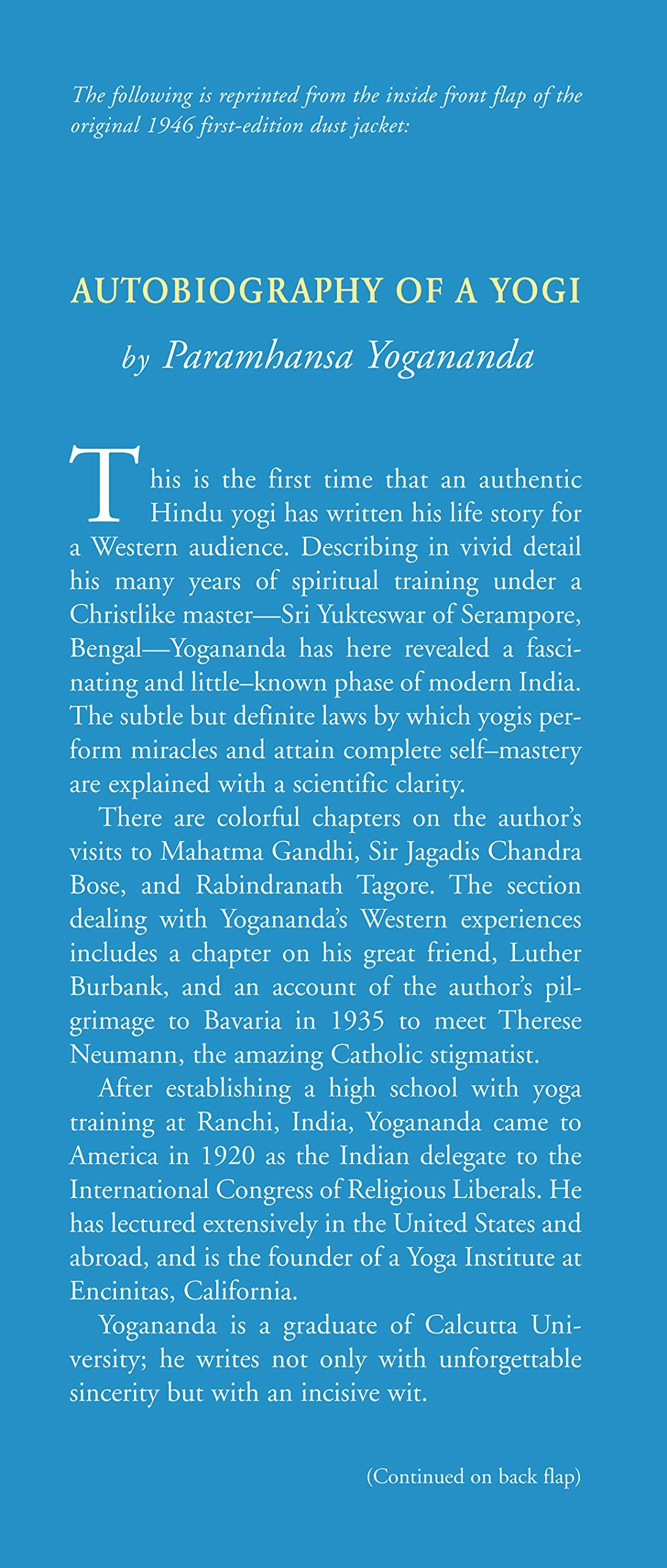 Autobiography of a Yogi, 2nd Edition: The Original 1946 Edition plus Bonus Material