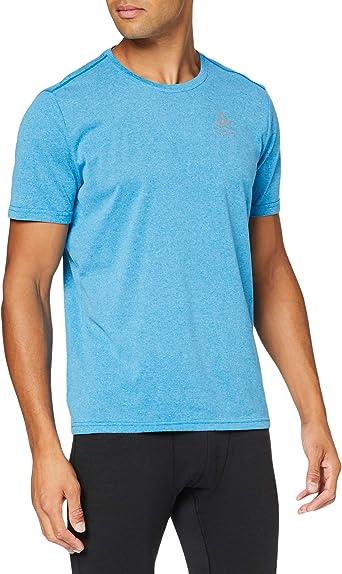 FR : L Taille Fabricant : L Odlo BL Top Crew Neck s//s Millennium Element Shirt Homme Black