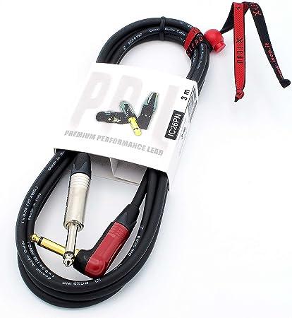 X-LEAD IC26PN030BK Serie PLATINUM, cable de instrumento de calidad para guitarra, bajo y teclados - Jack/Jack - Conectores NEUTRIK originales - (3 m, ...