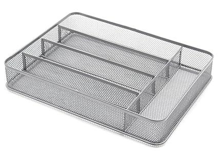 Bandejas ESYLIFE para cajones de cubiertos, de malla, acero, 5 Compartments