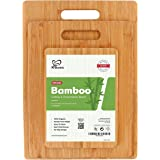 K BASIX Bamboo Cutting Board Set (3-Pcs) - Premium 100% Organic Wood Cutting Board for Chopping Meat (Butcher Block…