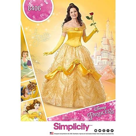Simplicity patrón de Costura 8406 para Disfraz de Bella de La Bella y la Bestia,