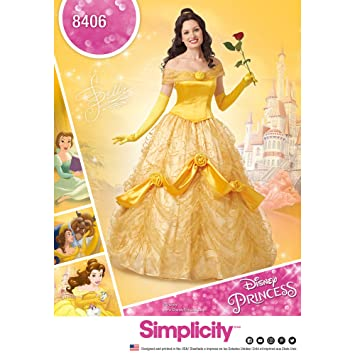 Simplicity Muster 8406 Disney Schönheit und das Biest Kostüm für ...