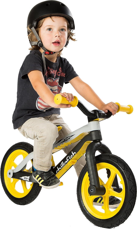 Chillafish CPMX01YEL-RS BMXie-RS BMX Balance Bike with Airless RubberSkin Tyres Thunderball Lightning Yellow