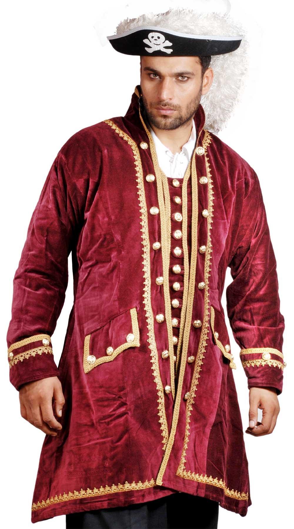 Medieval Renaissance Pirate Captain Easton Coat Jacket (Large)