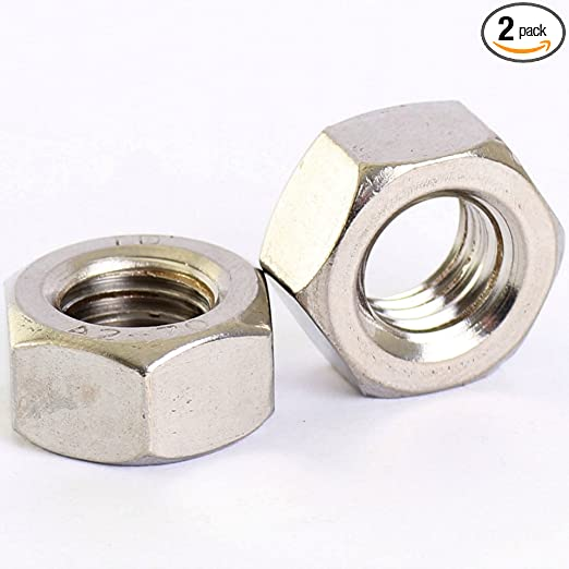 4pcs M12 x 1.25 mm Pitch Stainless Steel Left Hand Thread Hex Nut Metric Thread