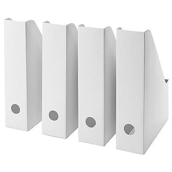 Ikea Archivador con Pano, Cartón, Blanco, 36x31x3 cm 4 Unidades: Amazon.es: Hogar
