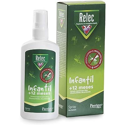 Relec Infantil Spray Antimosquitos | Fórmula especial para niños | A partir de 1 año | Eficaz contra el mosquito tigre | Dermatológicamente testada, sin alcohol ni colorantes | 100 ml