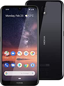 """Nokia 3.2 Android One Smartphone (Official Australian Version) 2019 4G Unlocked Mobile Phone with 2-Day Battery, 6.26"""" Screen and Face Unlock, 16GB, Black"""