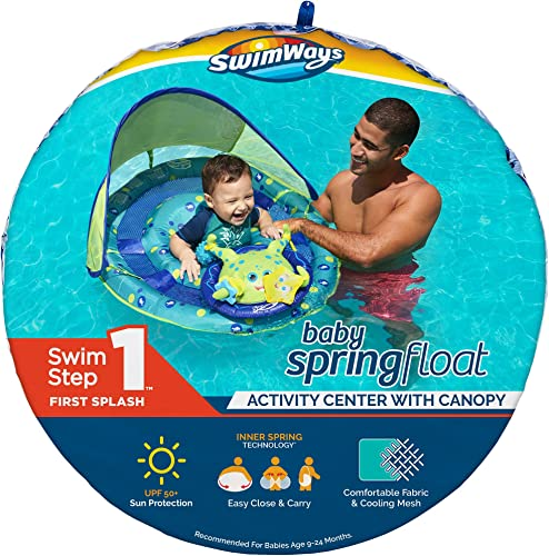 SwimWays-Inflatable-Baby-Spring-Octopus-Pool-Float-Activity-Center-with-Canopy