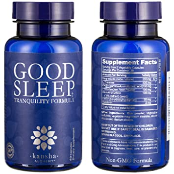 Natural Sleep Aid with Magnesium, Melatonin, L-Theanine - Relaxation, Mood Enhancer